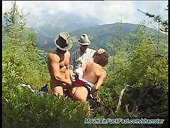 Anal, Teen, German, Threesome, Outdoor, Teen first anal finger