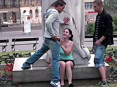 Public, Teen, Cute, Cute teasing in pantyhose