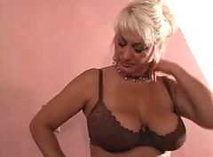 Blonde, Big tit blonde mature fuck young boy