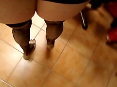 Heels, Milf, Stockings heels missionary