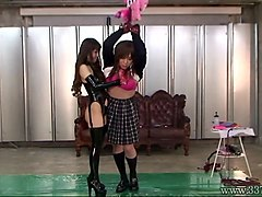 Femdom, Slave, Femdom bdsm japanese school girls abuse guy