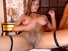 Shemale, Shemale And Girl, Stepmom teaching boy and girl sex