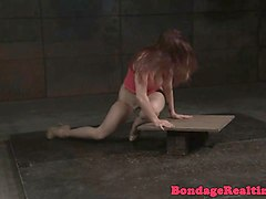 Deepthroat, Slave, Milf, Tied, Punished slave by master