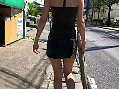 Rough, Panties, Daughter-in-law of the mini skirt with no bra 1