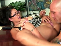 Rough, Office, Mature fingering touching