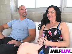 Milf, Milf fucks and swallows natalie