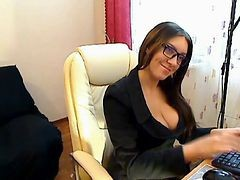 Czech, Stockings, Secretary, Czech secretary 1