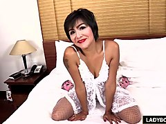 Ladyboy, Ass, Thai, Mature thai couple in home movie with cumshot