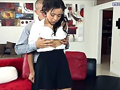 Teen, Creampie, Mom son creampie