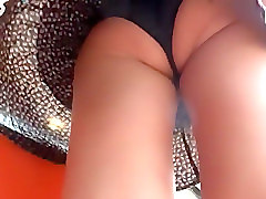 Dad pull my panties down licking pussy and tits