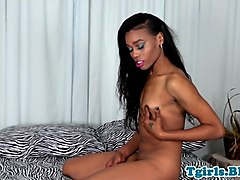 Ebony, Amateur, Ebony female solo dildo