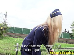 Stewardess, Public, Teen, B b stewardess