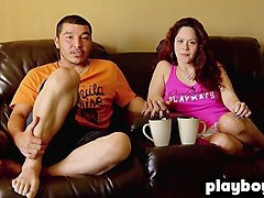 Chubby, Couple, Natural brunete