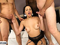 Anal, Double Anal, Group, Latina, Tranny rough anal group gangbang