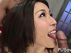 Sexy japanese nurse gets hot