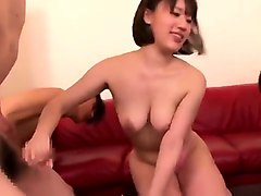 Hairy, Teen, Japanese girl gets naked and lets this guy fuck
