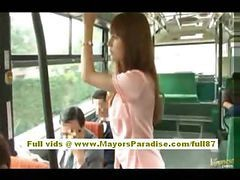 Asian, Bus, Hairy, Babe, Teen, Grope in bus