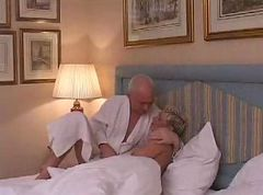 Couple, Shemale, Mature shemale lingerie blowjob