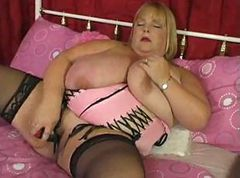 Blonde, Fat, Pussy toy solo bbw