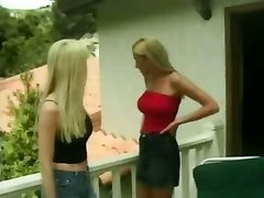 Seduced blonde girl has fun with lustful couple