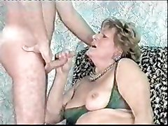 Aunt, Brutal face and anal fuck