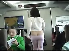 Train, Shy japanese girl banged in the train crowded