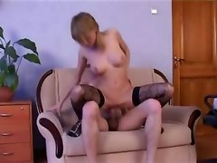 Black, Stockings, Russian, Russian stockings anal