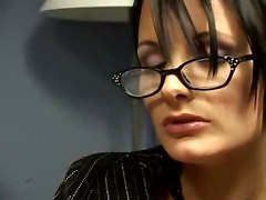 Office, Surprise, Secretary, Mature office secretary fucked in leather by boss