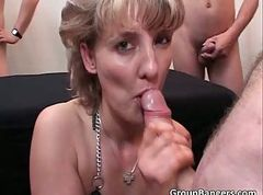 Blonde, Gangbang, Party, Blonde caught