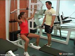Gangbang, Teen, Gym, Vintage lesbian gym workout heather lee and