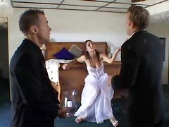 Wedding, Bride unterracial gangbang creampie