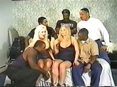 Gangbang, Interracial, Amateur wife gangbang interracial