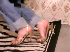 Heels, Mature feet tickling