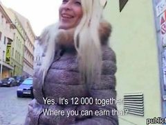 Blonde, Czech, Public, Up skirt sex toys in public