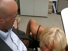 Blonde, Secretary, Naughty daughter seduces her dad
