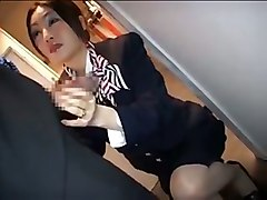 Asian, Stewardess, Busty stewardess