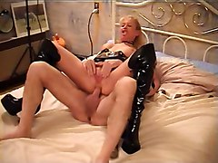 Blonde, Boots, Gangbang, Matures in boots