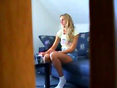 Blonde, Teen, Caught, Housewife caught