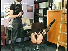 Black, Mask, Slave, Ass, Milf, Milf slave by master