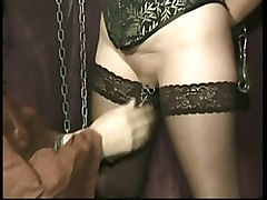 Mask, Slave, Searmasked master spanks milf slave on her ass