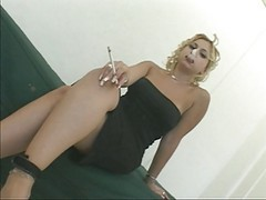 Anal, Fetish, Smoking, Swallow, Strapon cum smoking