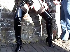 Boots, Whore, Thigh boots orgasm