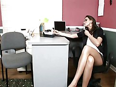 Black, Office, Huge lactating tits painful slapped twisted abused