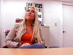 Blonde, Office, Facial, Milf, Russian milf facial