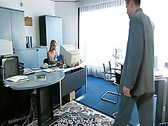 Blonde, Secretary, Cute asian secretary does everything her boss