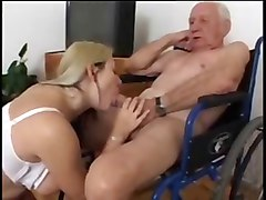 Nurse, Old Man, Old man fucks maid