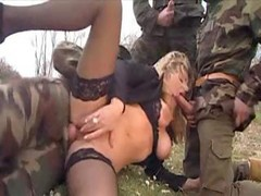 Gangbang, Wife, Xxx queeen brutal gangbang by soldiers