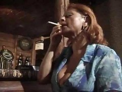 Granny, Mature woman fucked in bar