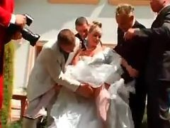 Gangbang, Bride, Wedding, Wedding with dad