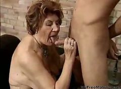 Granny, Cumshot, Mature, Matures and fit young